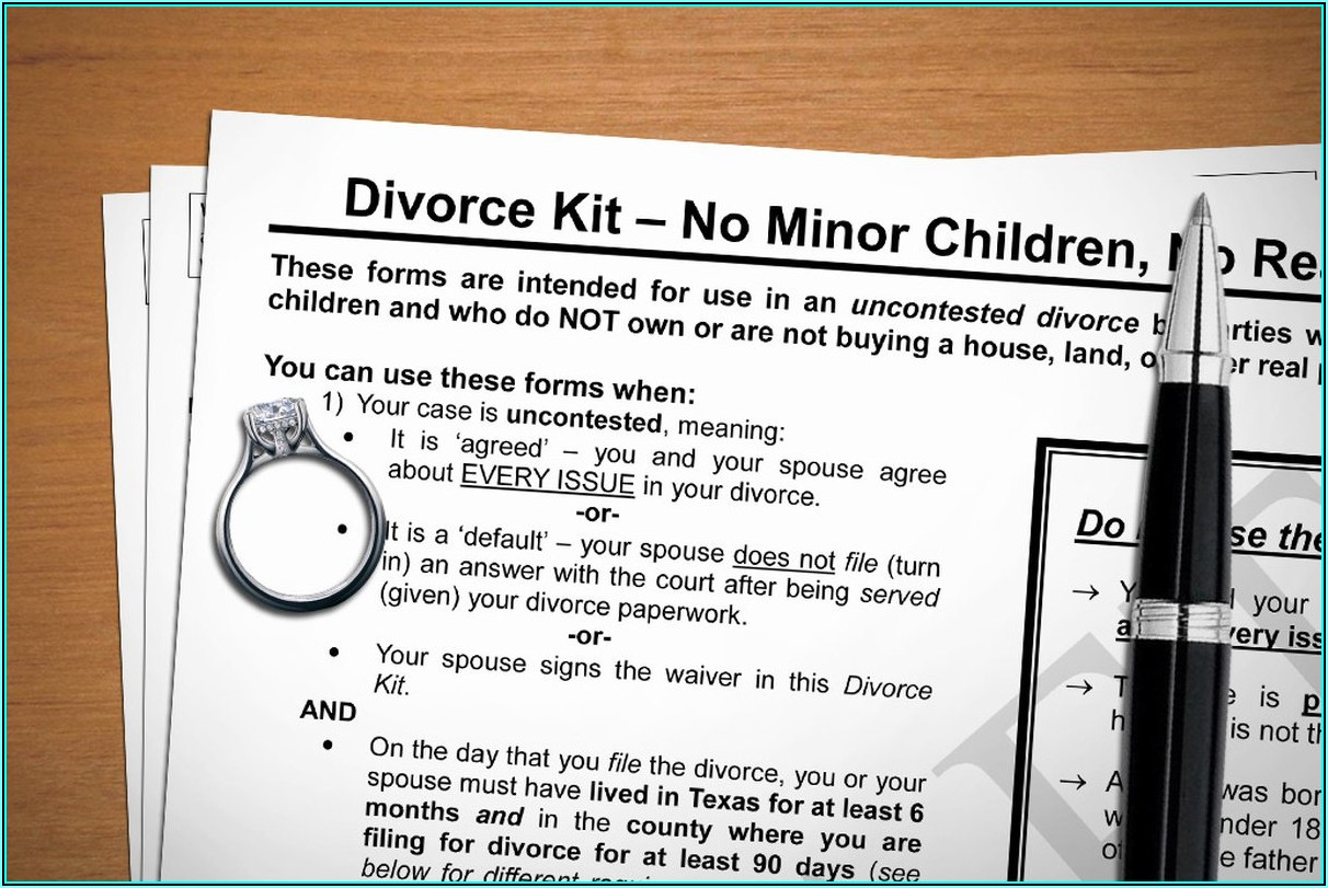 Texas Uncontested Divorce Forms With Child