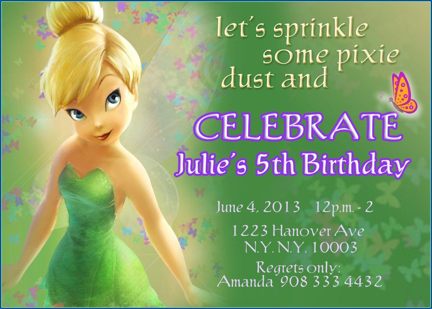 Tinkerbell Invitations Templates Free
