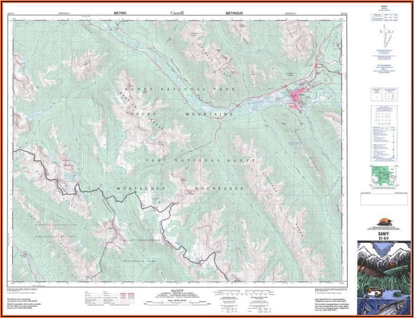 Topographic Maps Of Alberta Lakes