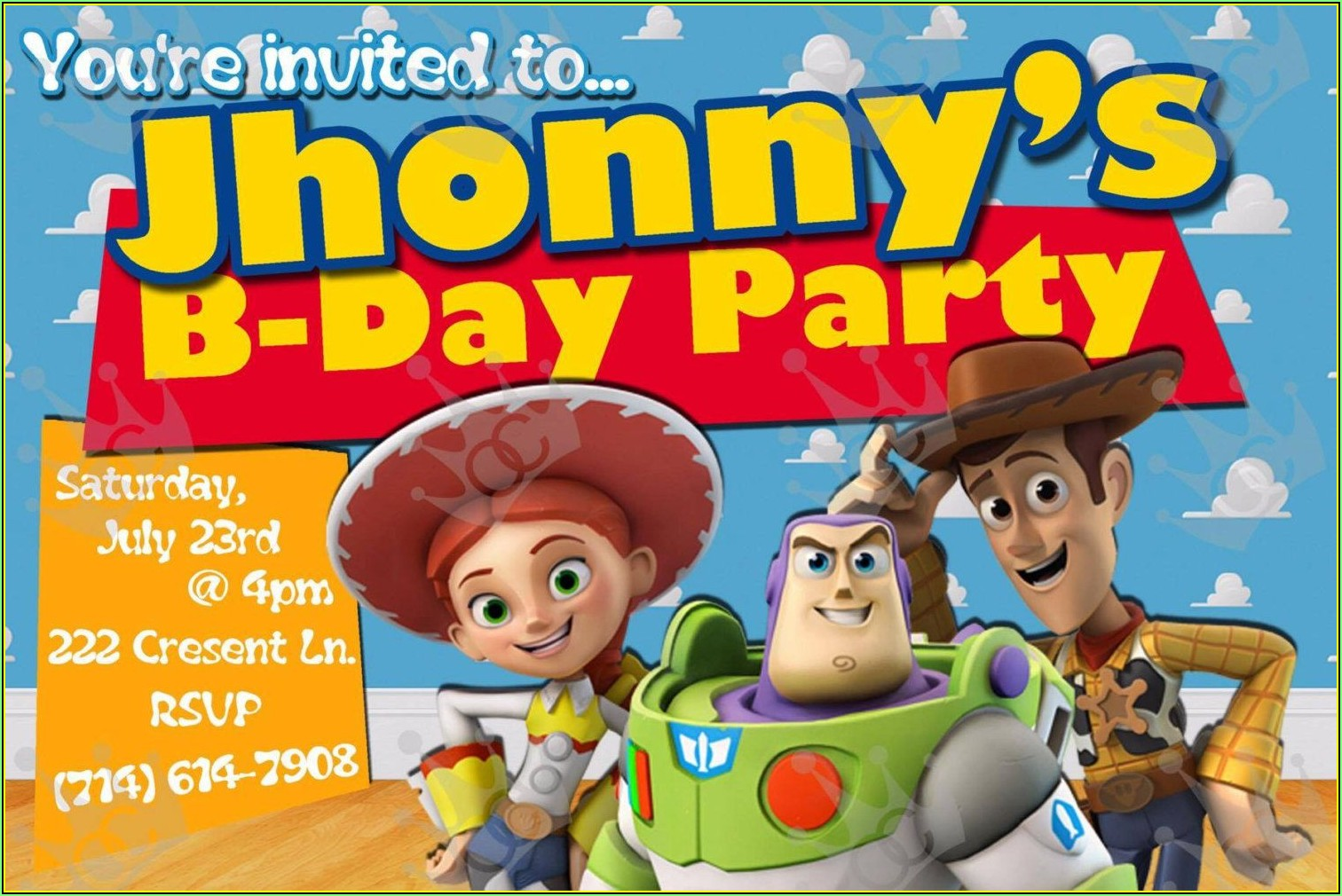 Toy Story Invite Template