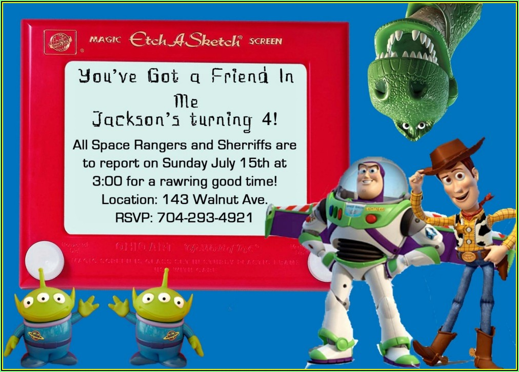 Toy Story Party Invitation Templates
