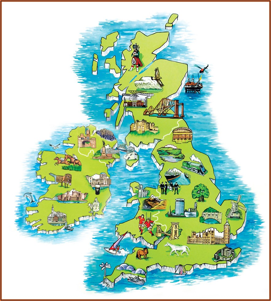 Travel Map Of Ireland And Scotland