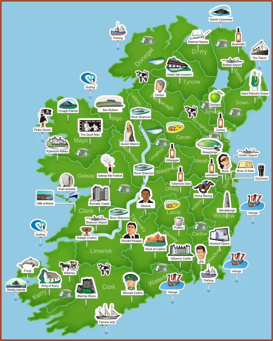 Travel Map Of Ireland