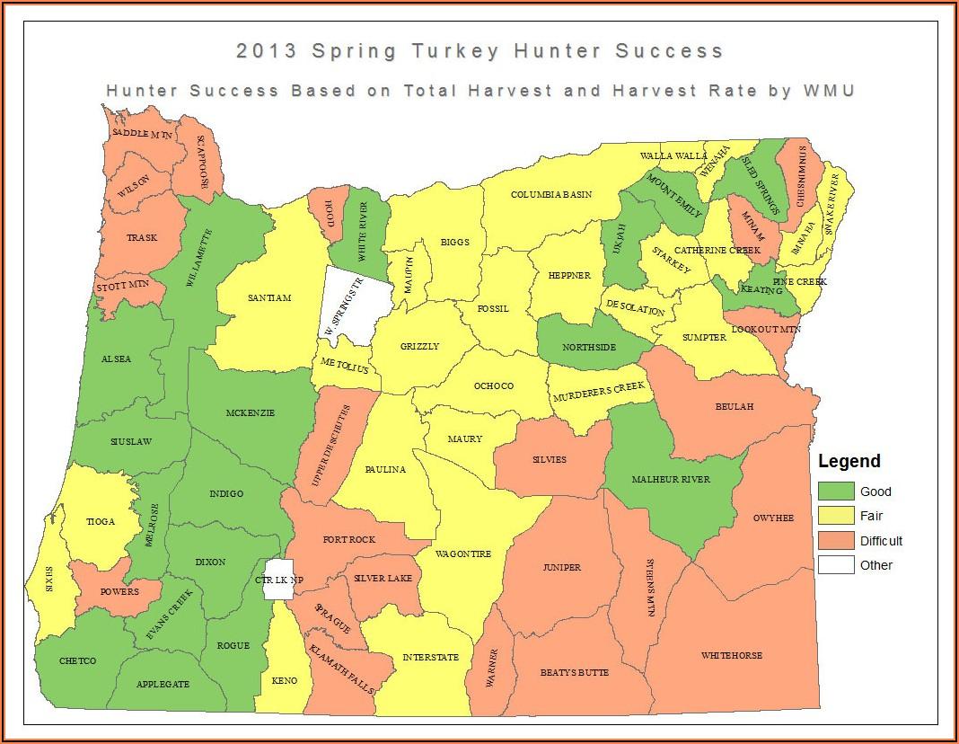 Turkey Hunting Map Washington State