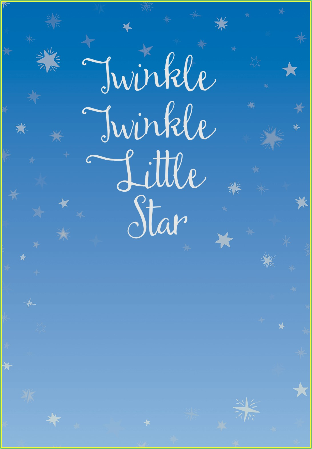 Twinkle Twinkle Little Star Baby Shower Invitation Template Free