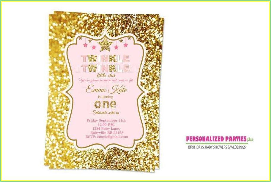 Twinkle Twinkle Little Star Birthday Invitation Template Free