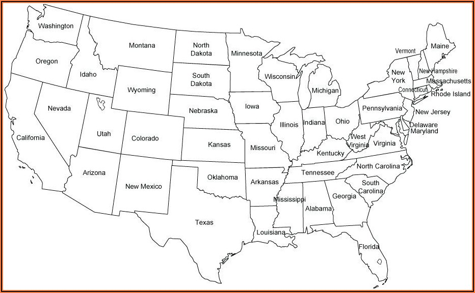 United States Map State Capitals Quiz