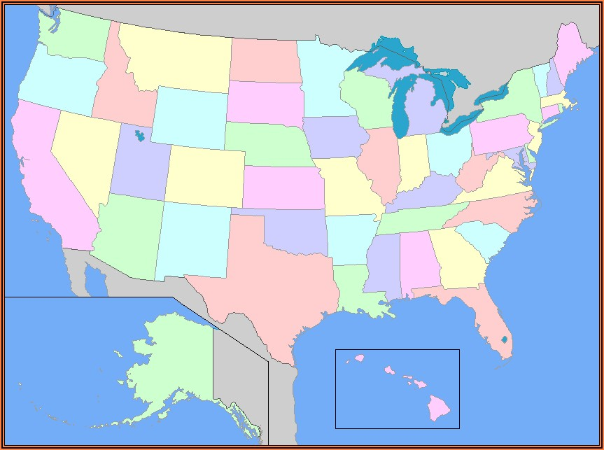United States Map With State Names And Capitals Game