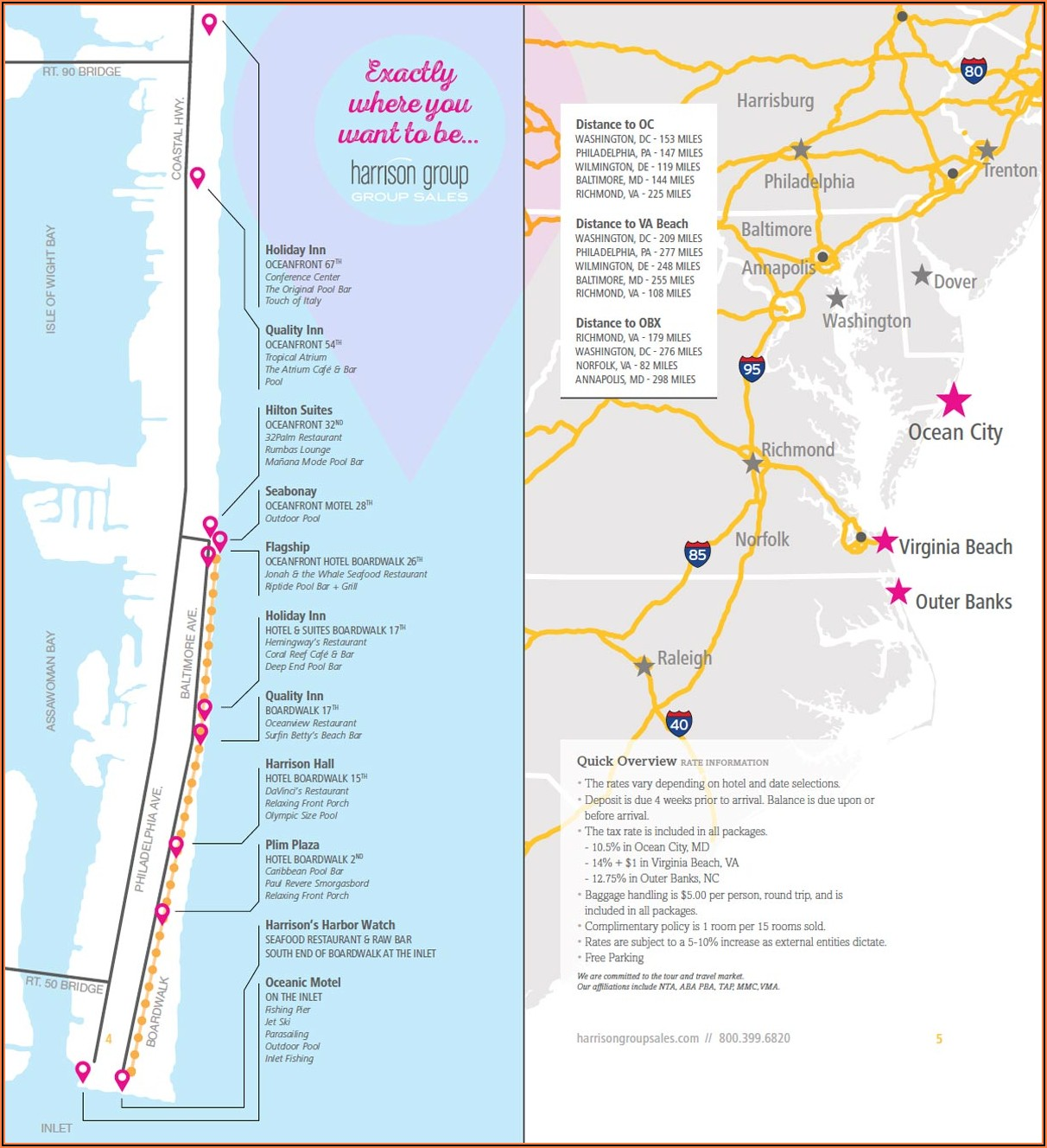 Va Beach Hotels Map