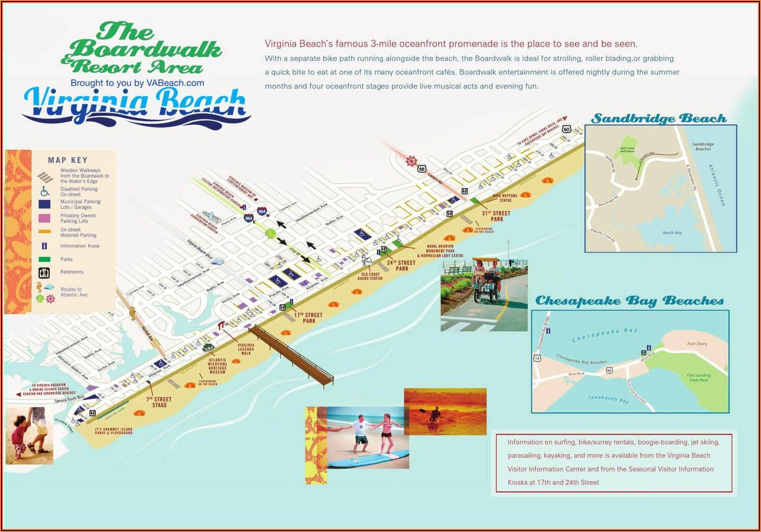 Va Beach Oceanfront Hotels Map