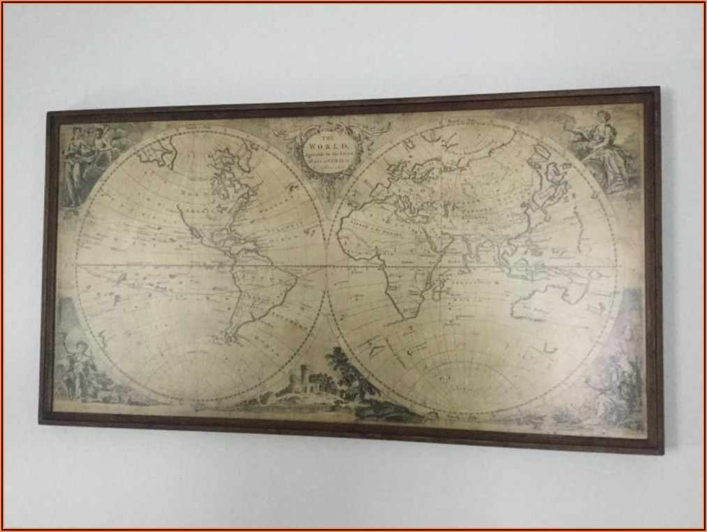 Vintage Framed Maps