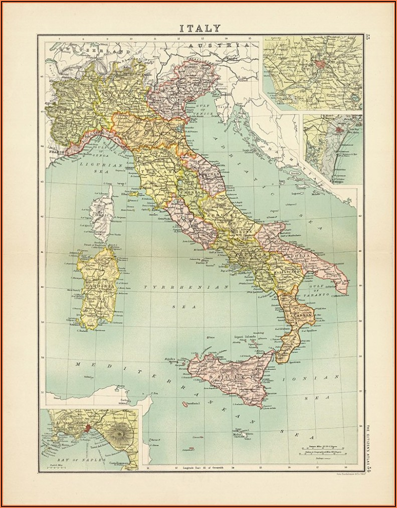 Vintage Maps Of Europe