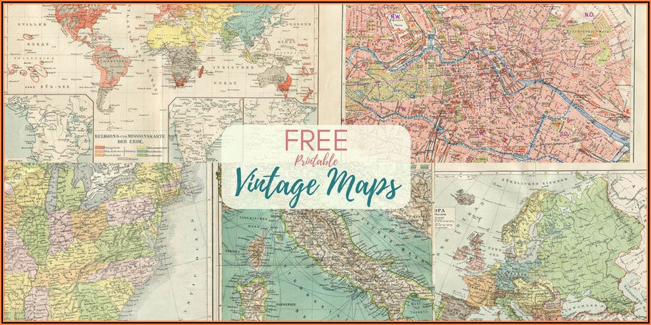 Vintage World Map Poster Free Download
