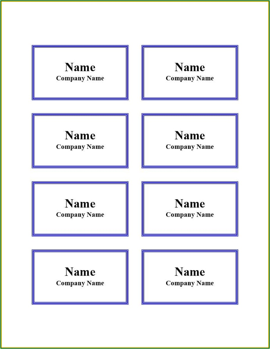 Visitor Name Badge Template