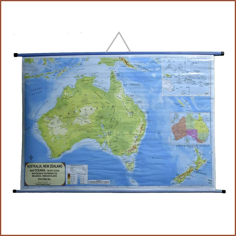 Wall Hanging Map Of Australia