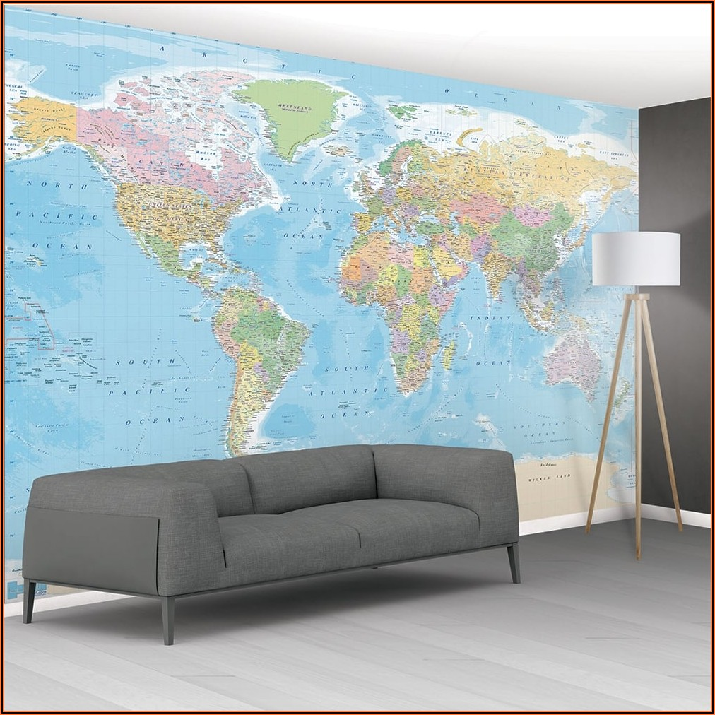Wallpaper Map Mural