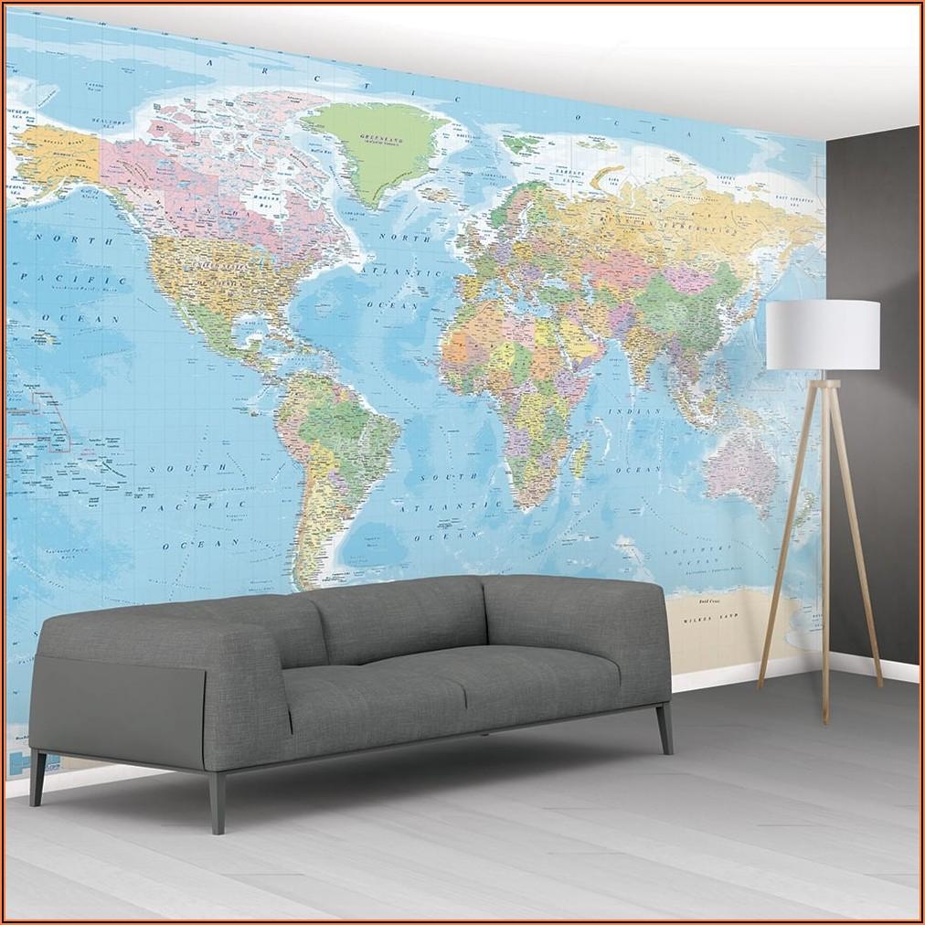 Wallpaper Map Mural