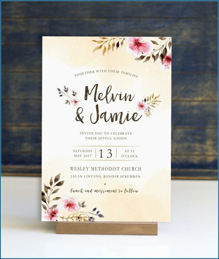 Wedding Invitation Insert Templates Free Download
