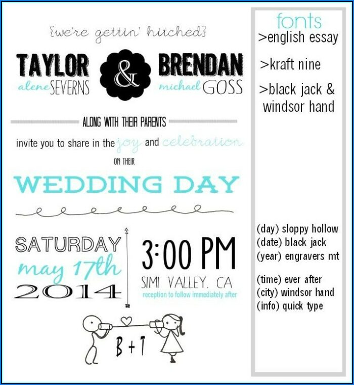 Wedding Invitation Inserts Template Free