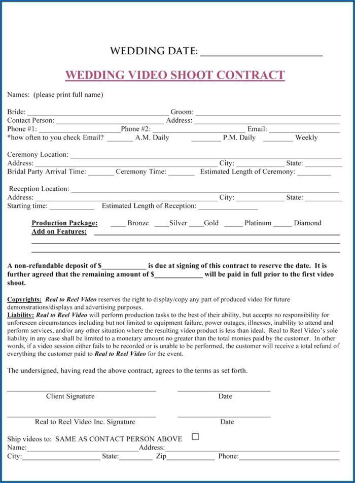 Wedding Planner Contract Sample Pdf