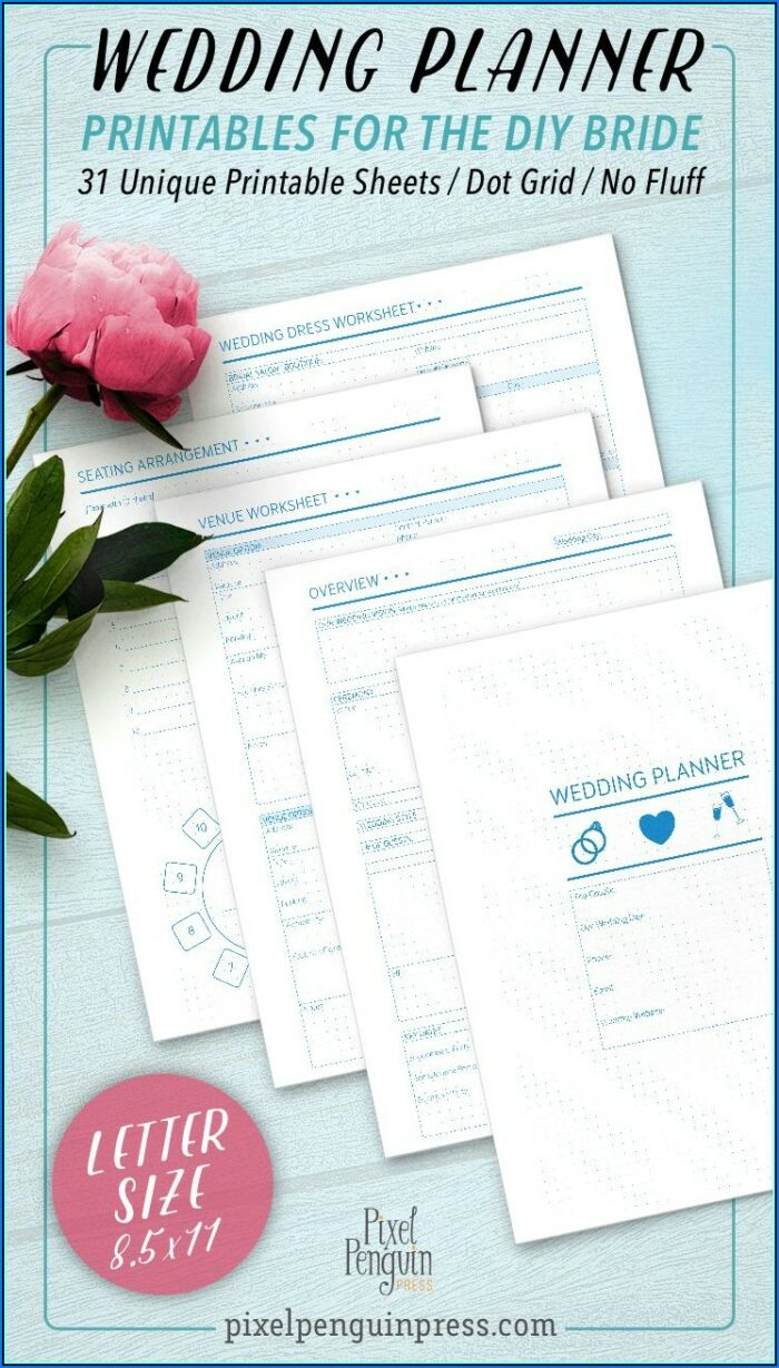 Wedding Planner Template Pdf