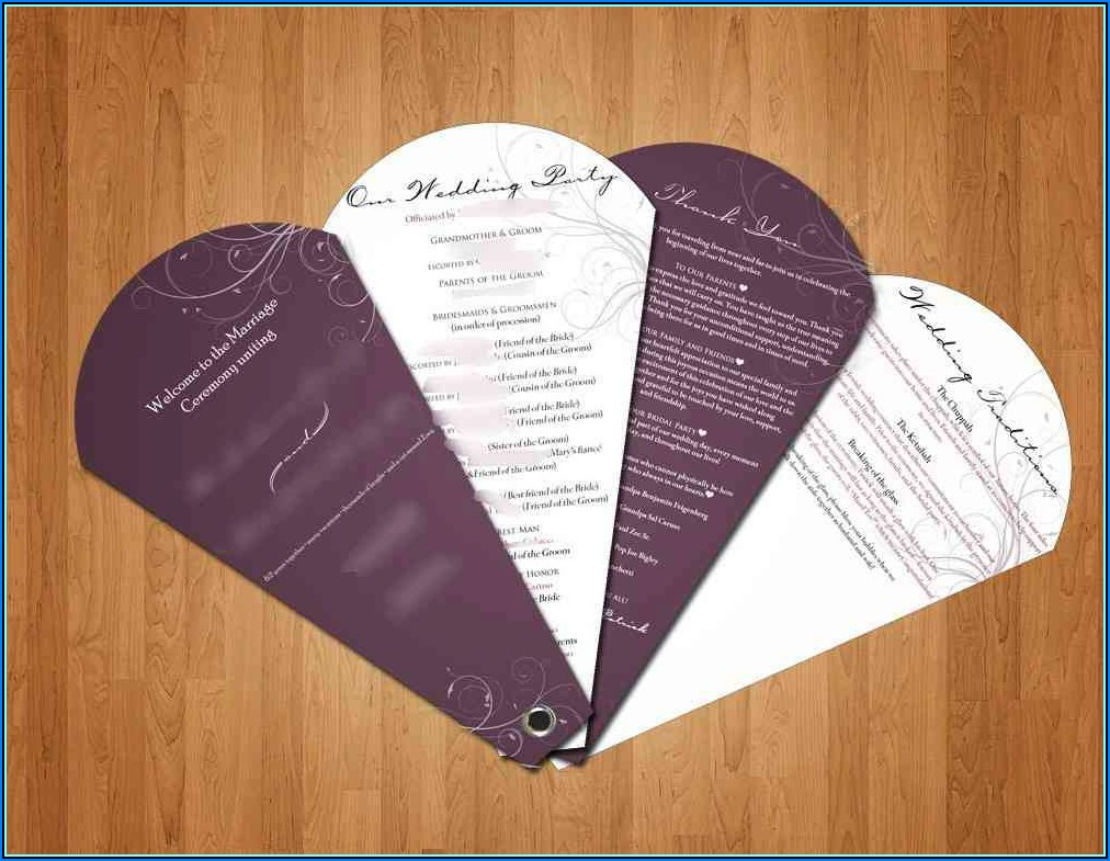 Wedding Programs Fans Templates