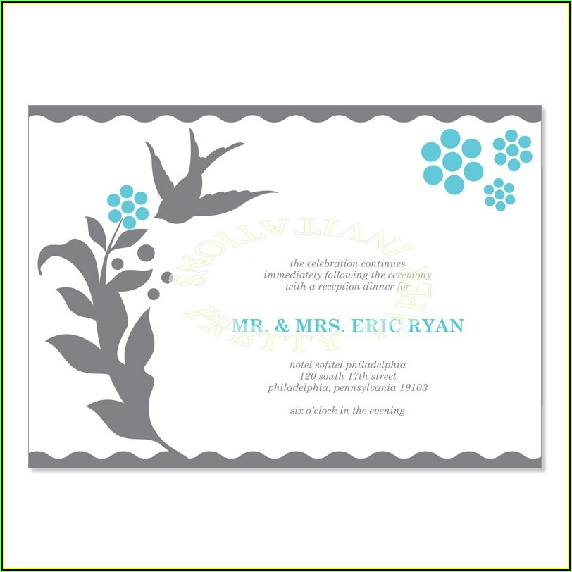 Wedding Reception Cards Templates