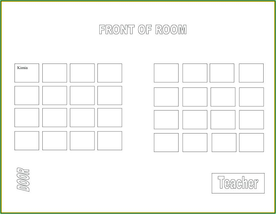 Wedding Seating Chart Template Word Free