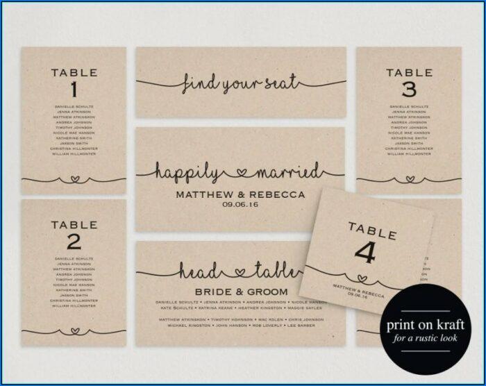 Wedding Table Plan Template Pdf