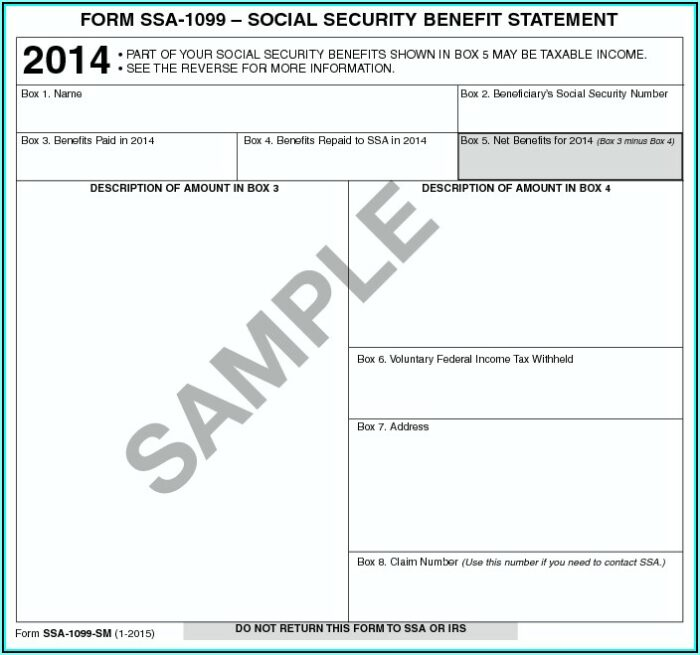 When Are Social Security 1099 Forms Mailed Out