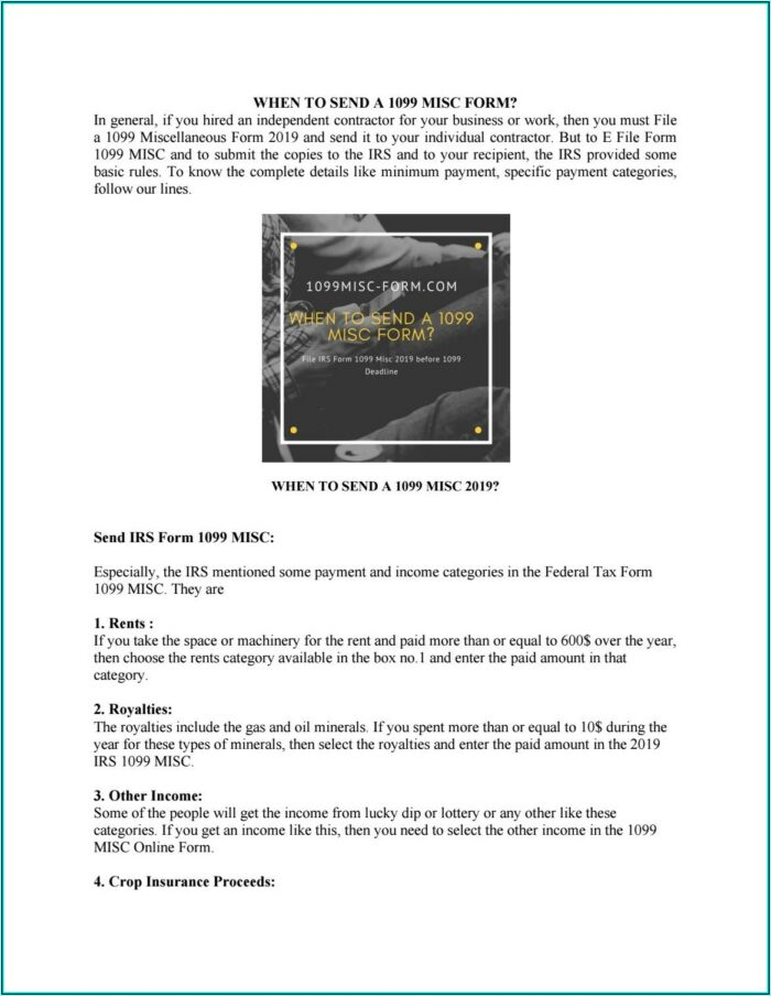 Where To Get Form 1099 Misc 2019