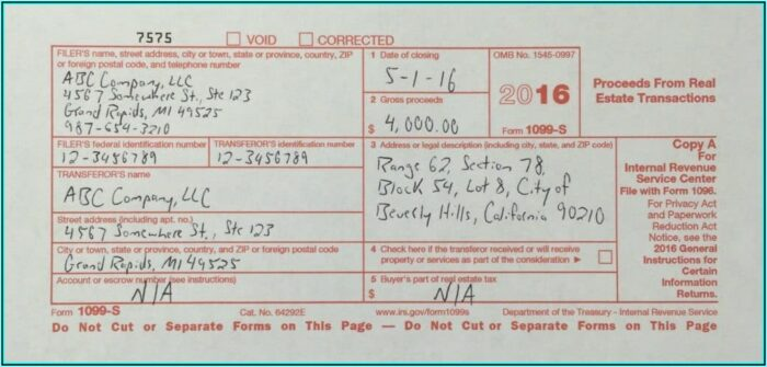 Where To Get Form 1099 S
