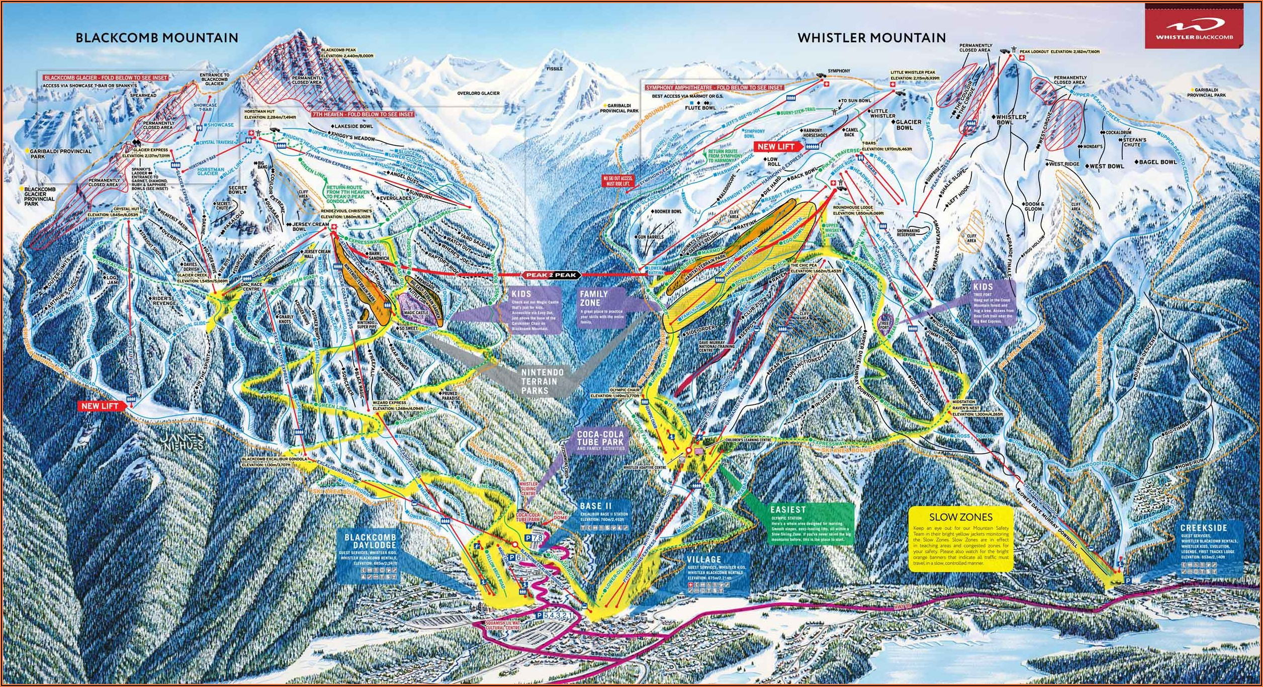 Whistler Accommodation Map