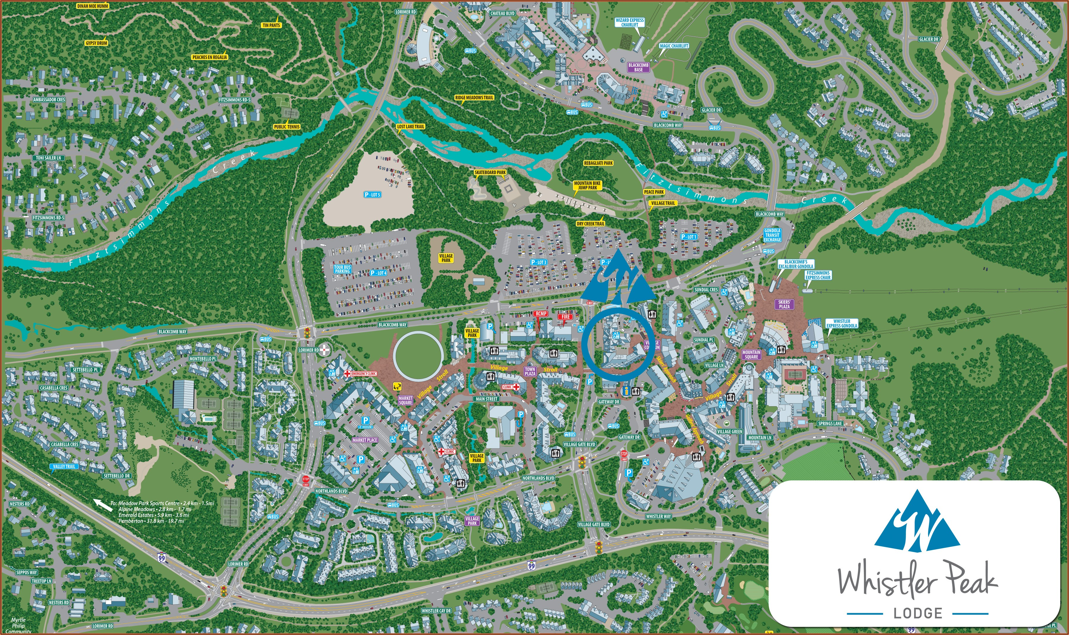 Whistler Village Accommodation Map