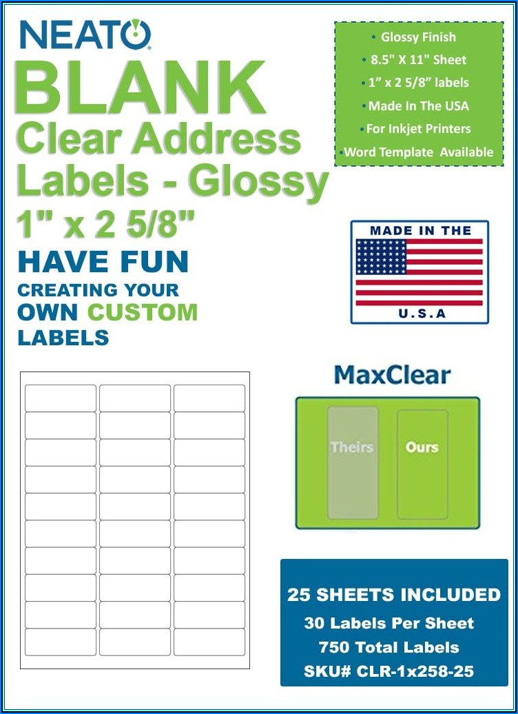 Word Template For Labels 30 Per Sheet