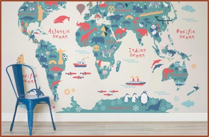 World Map Mural Wallpaper Uk