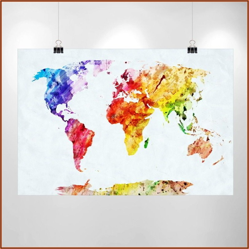 World Map Poster Large Ikea