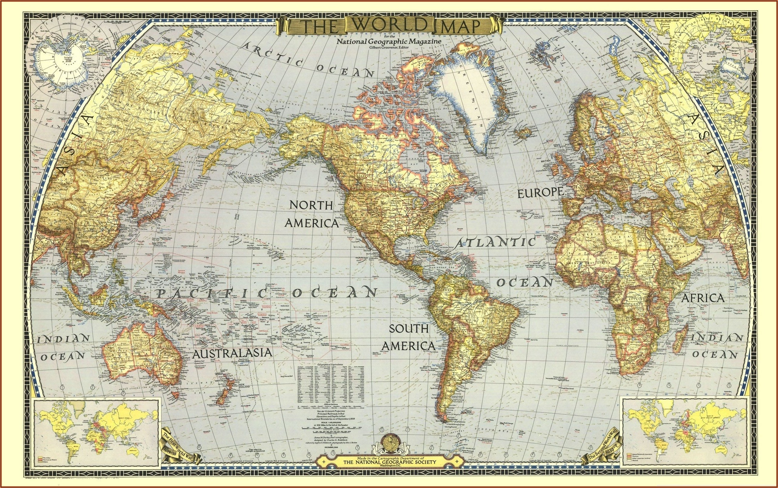 World Map Poster National Geographic
