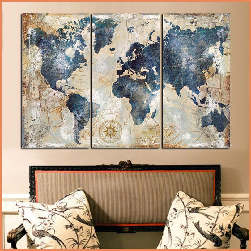World Map Prints Canvas
