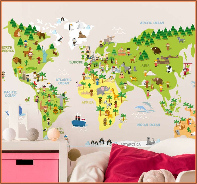 World Map Sticker Wall