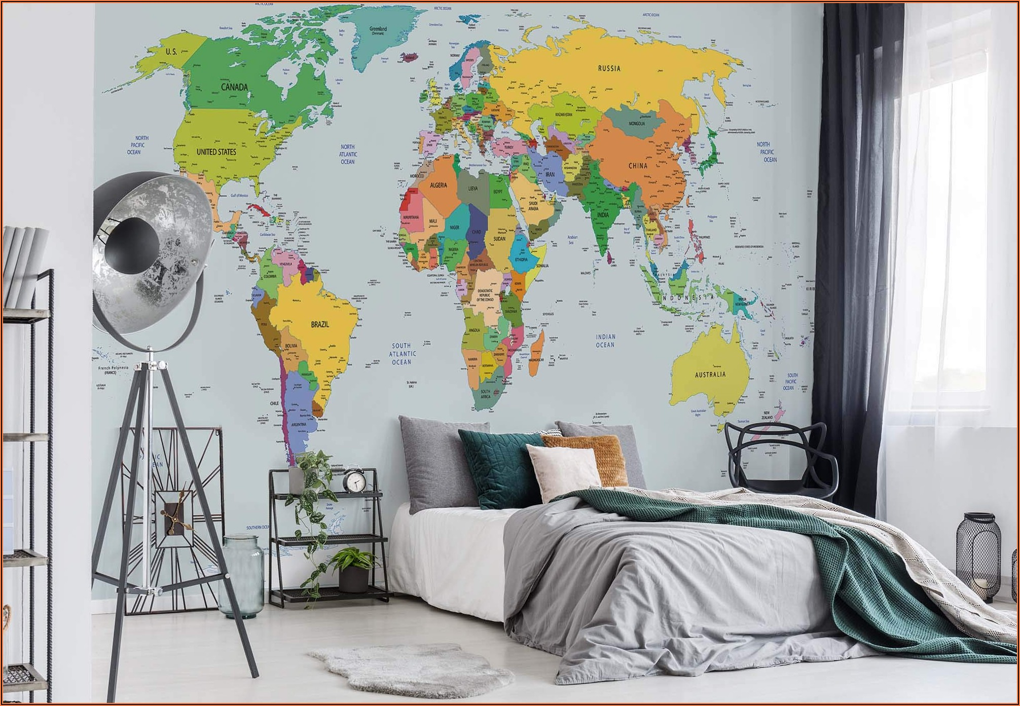 World Map Wallpaper Mural Buy Online