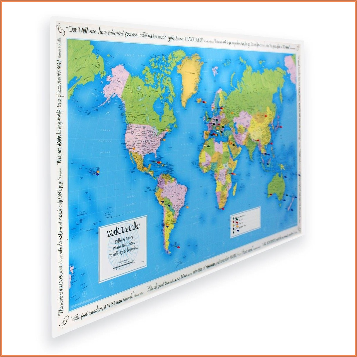 World Traveller Map Personalised