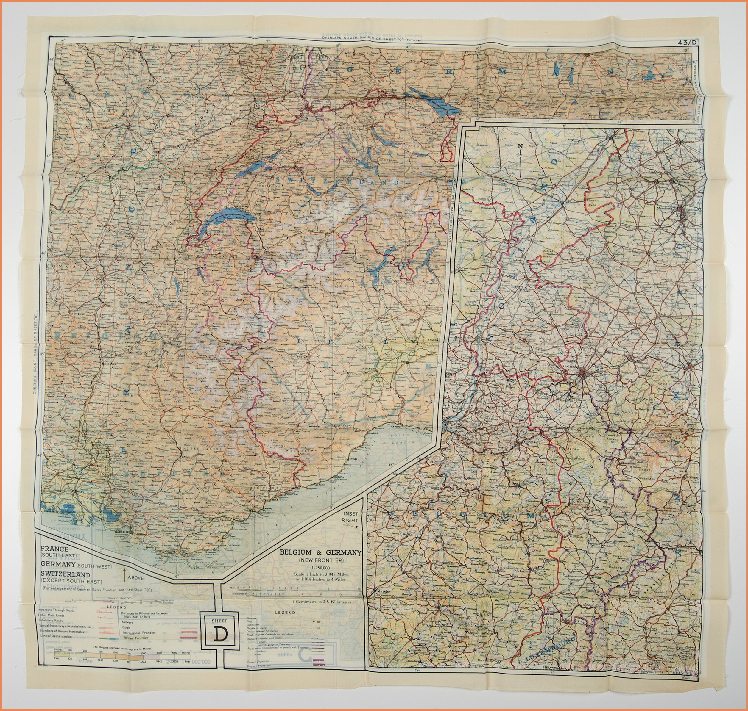 World War 2 Silk Escape Maps For Sale