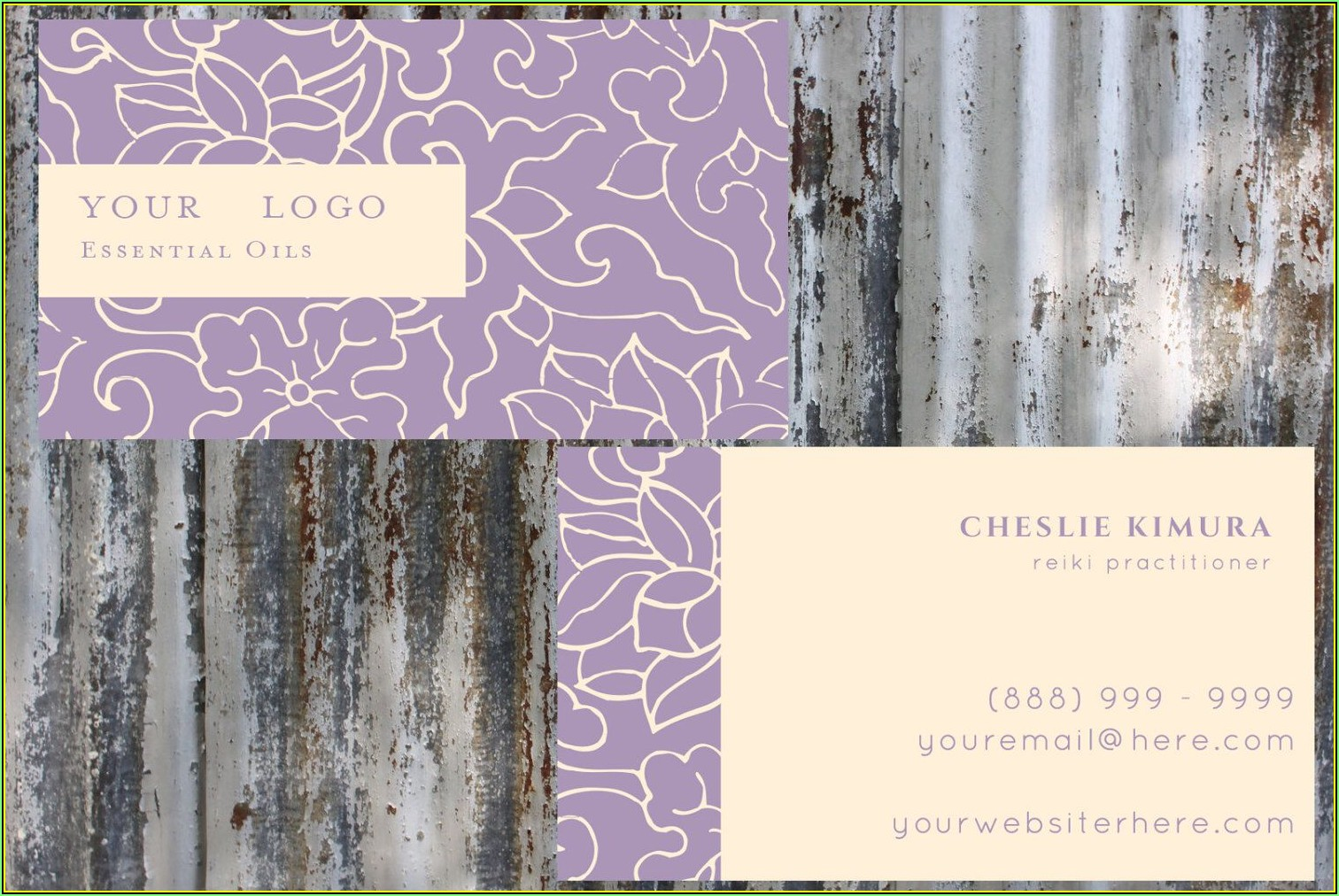 Young Living Essential Oils Business Card Template