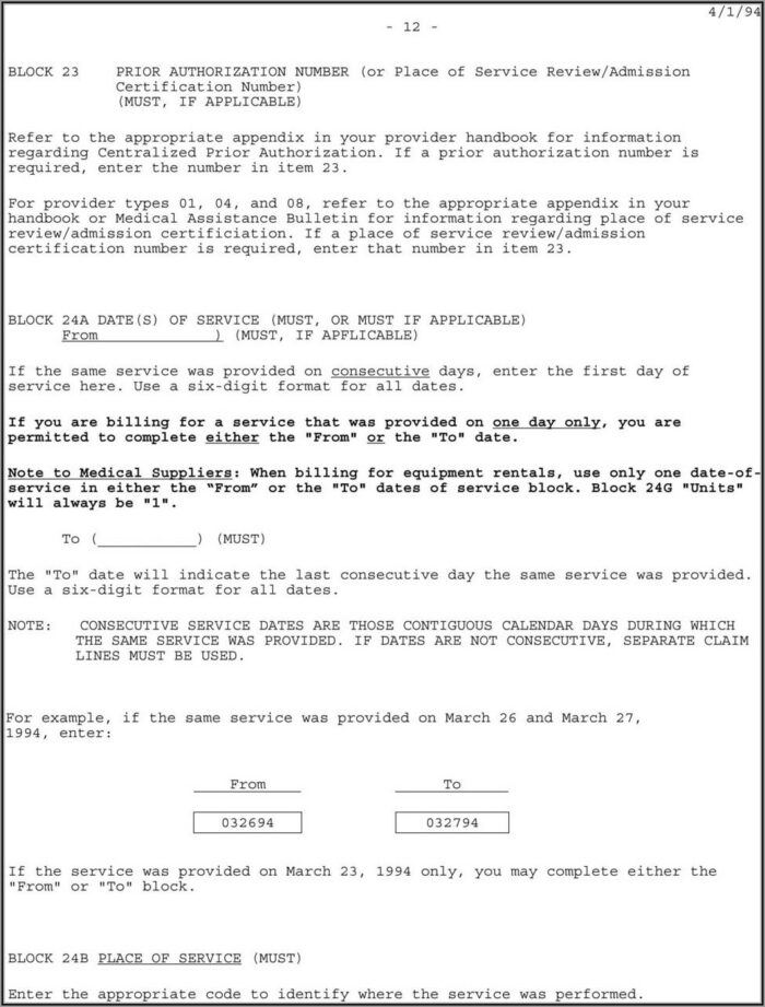 1500 Hcfa Form Instructions