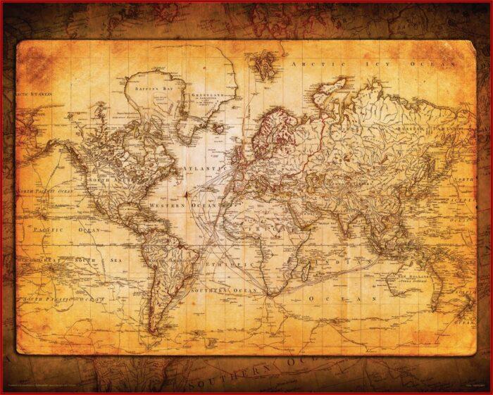 16x20 World Map