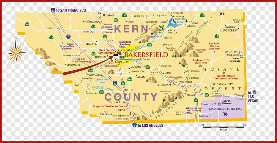 Bakersfield Hotels Map