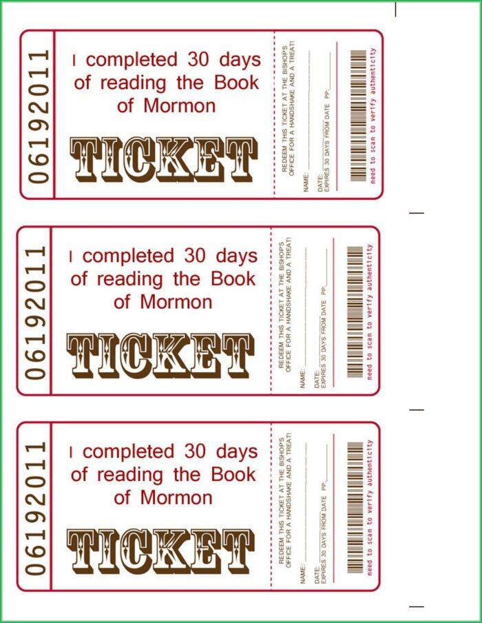 Benefit Bbq Ticket Template