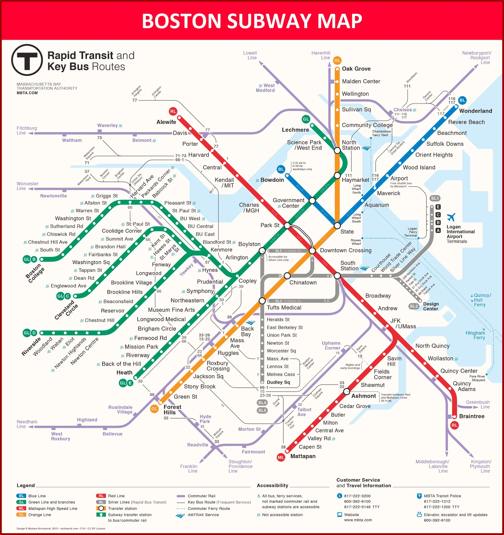 Boston Hop On Hop Off Bus Route Map