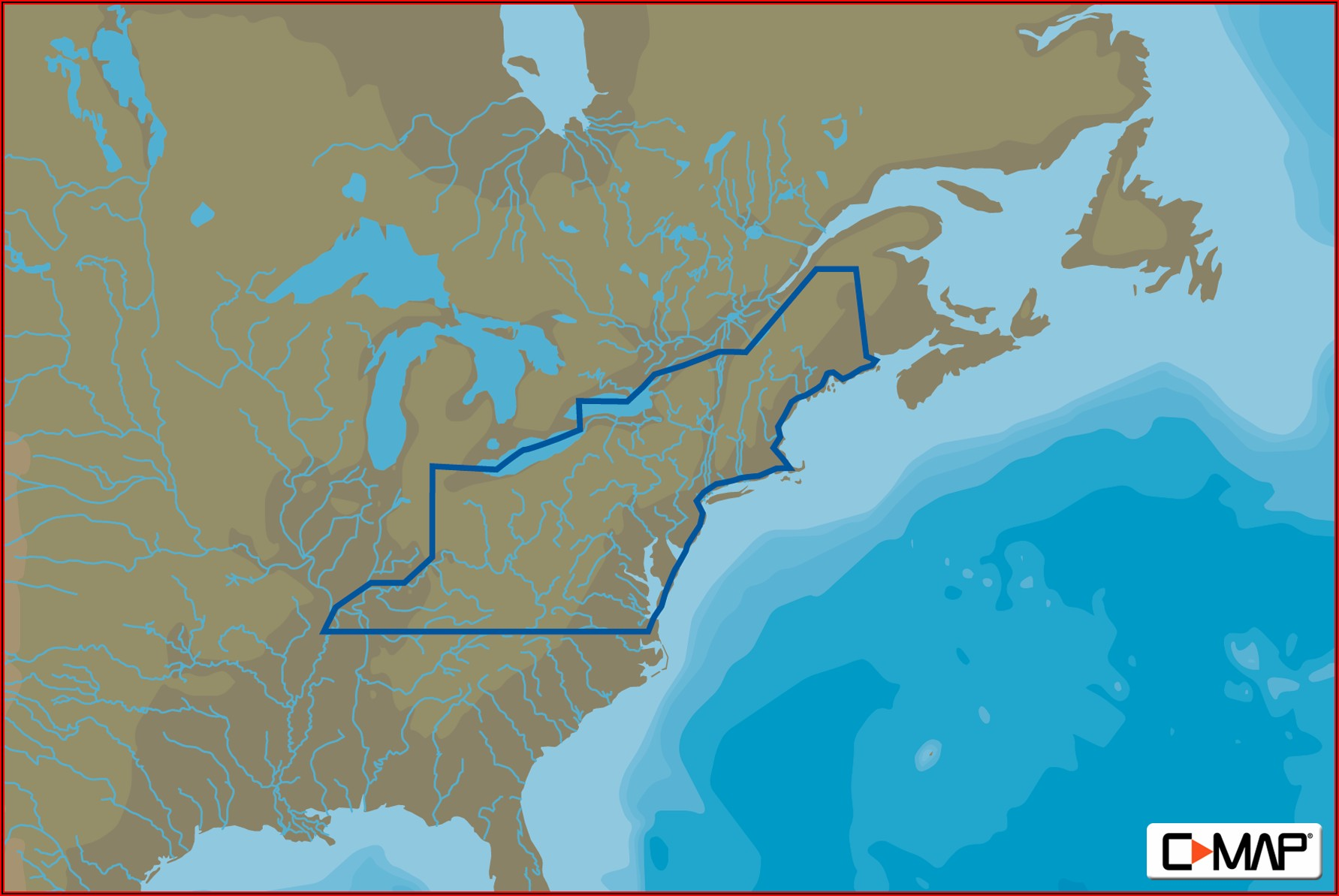 C Map Lake Insight Hd North East Us